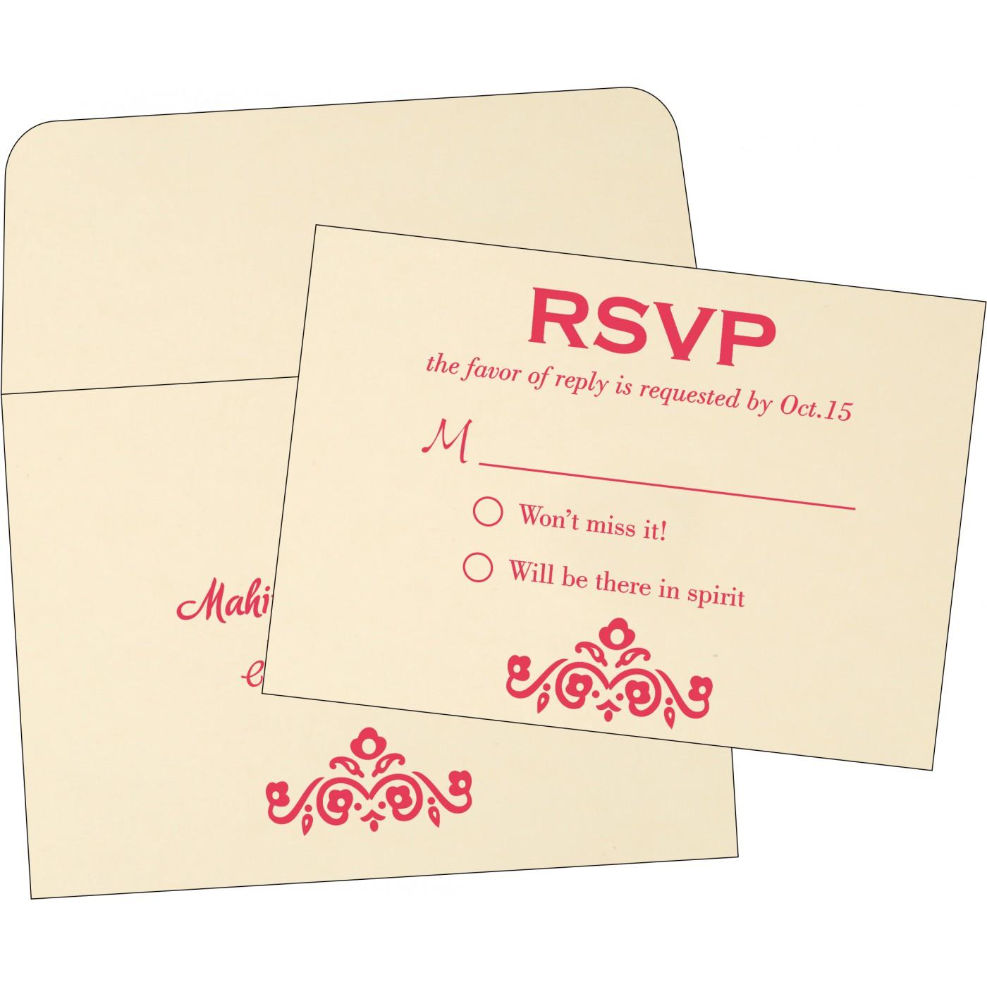 RSVP Cards : RSVP-1407 - 123WeddingCards