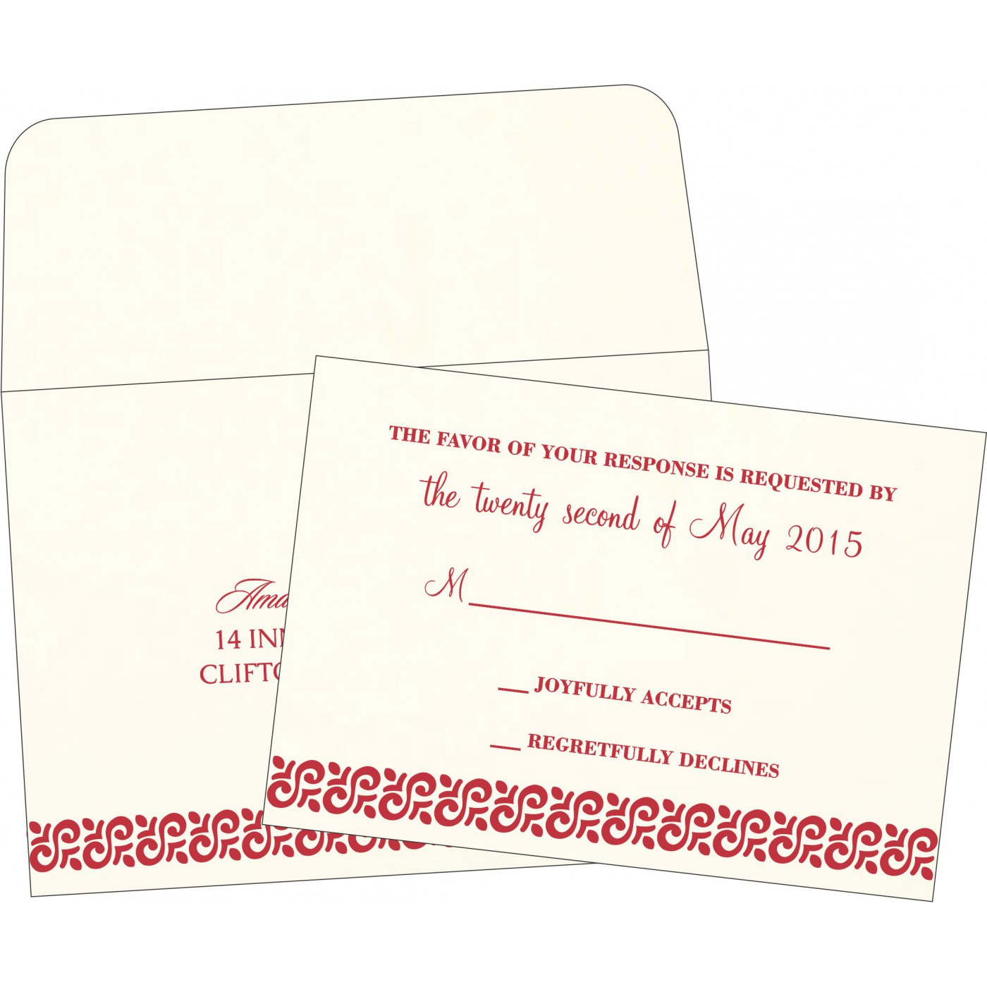 RSVP Cards : RSVP-1411 - 123WeddingCards