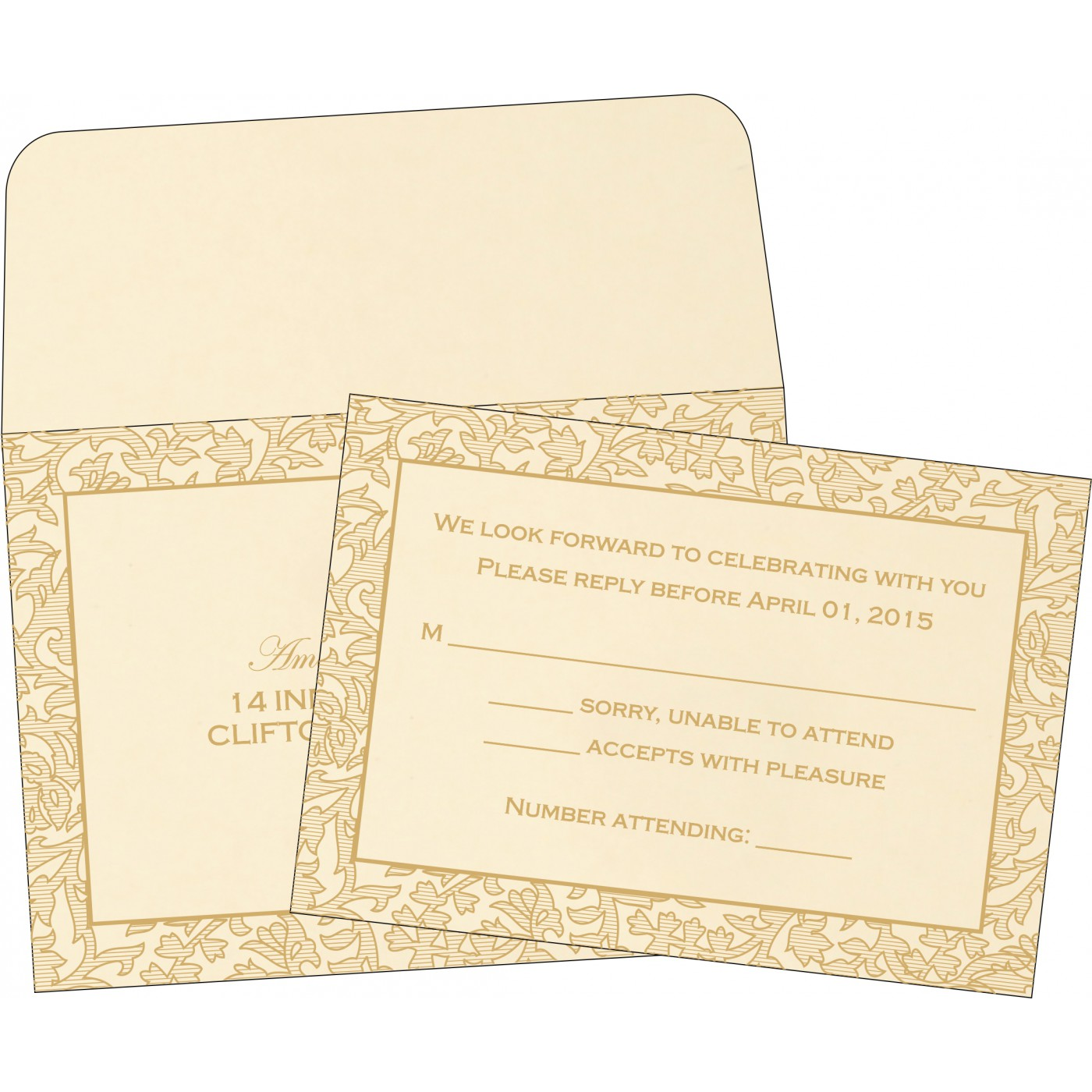 RSVP Cards : RSVP-1426 - 123WeddingCards