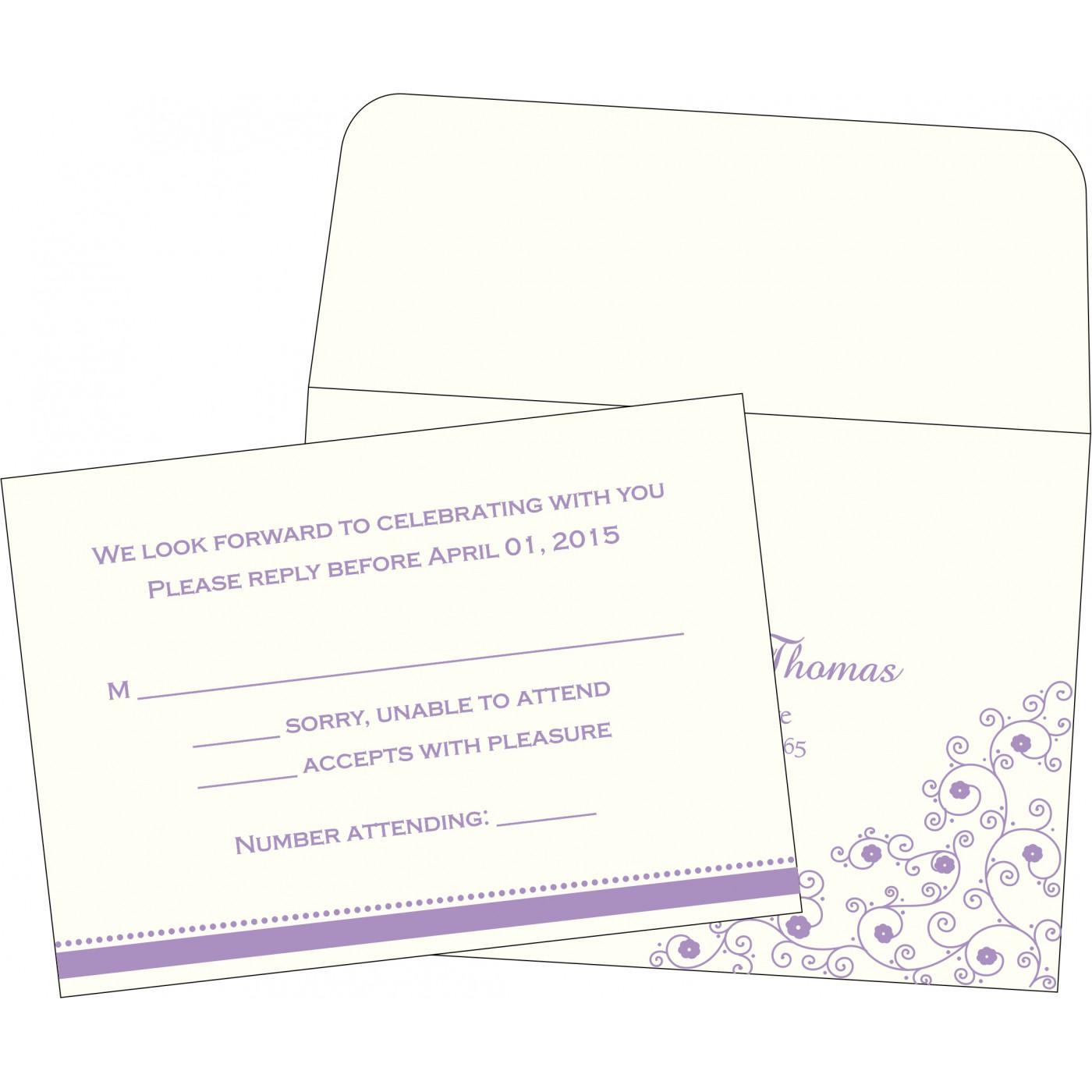 RSVP Cards : RSVP-1431 - 123WeddingCards