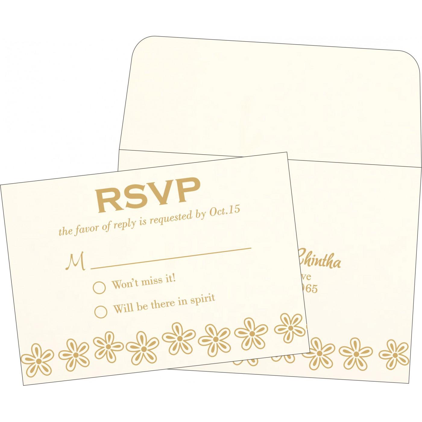 RSVP Cards : RSVP-1439 - 123WeddingCards
