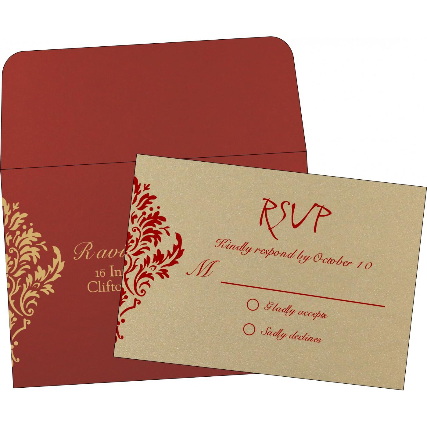 RSVP Cards : RSVP-1494 - 123WeddingCards