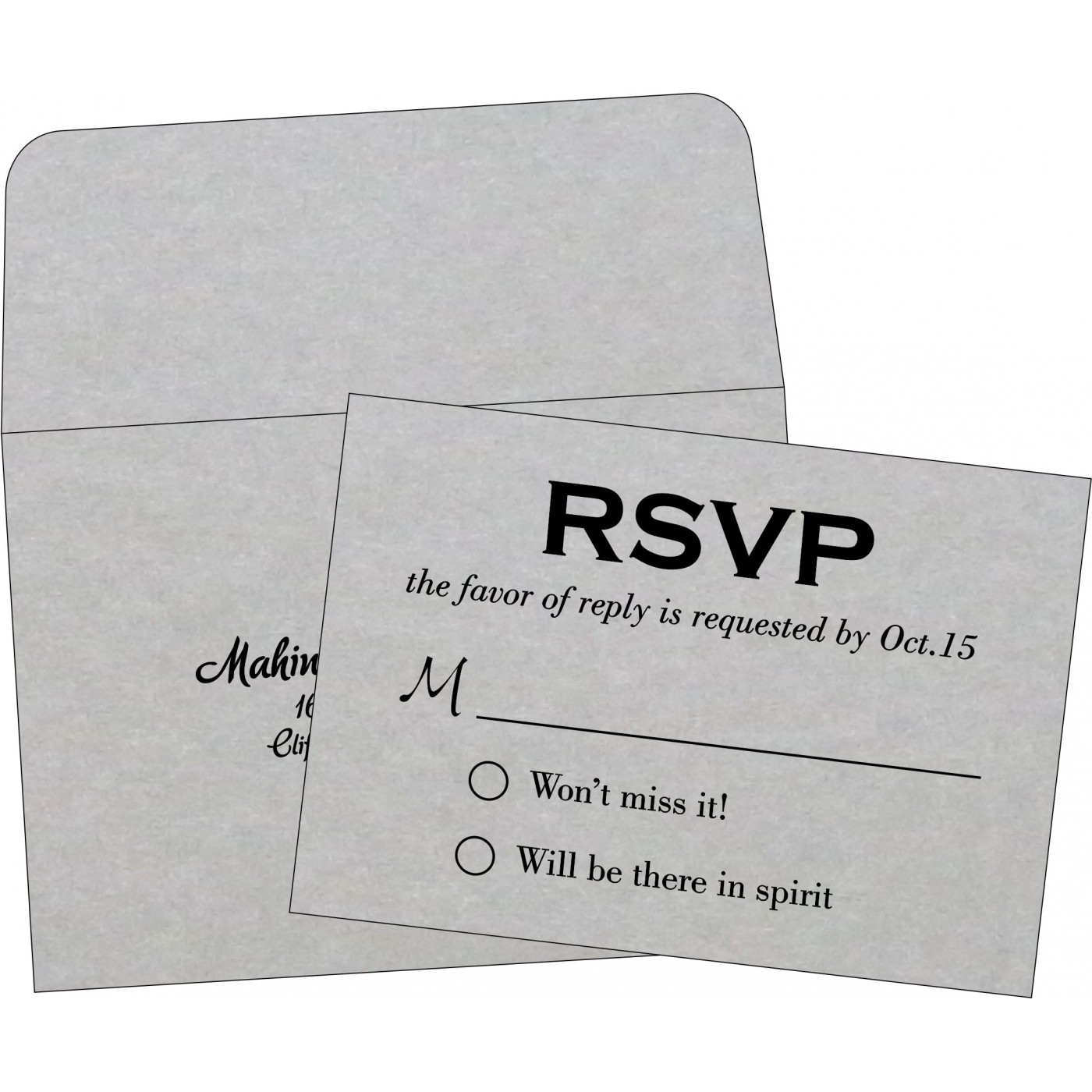 RSVP Cards : RSVP-1498 - 123WeddingCards