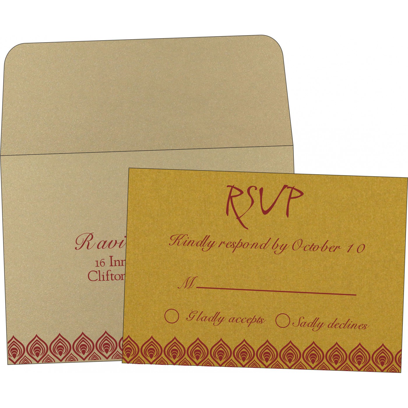 RSVP Cards : RSVP-1506 - 123WeddingCards