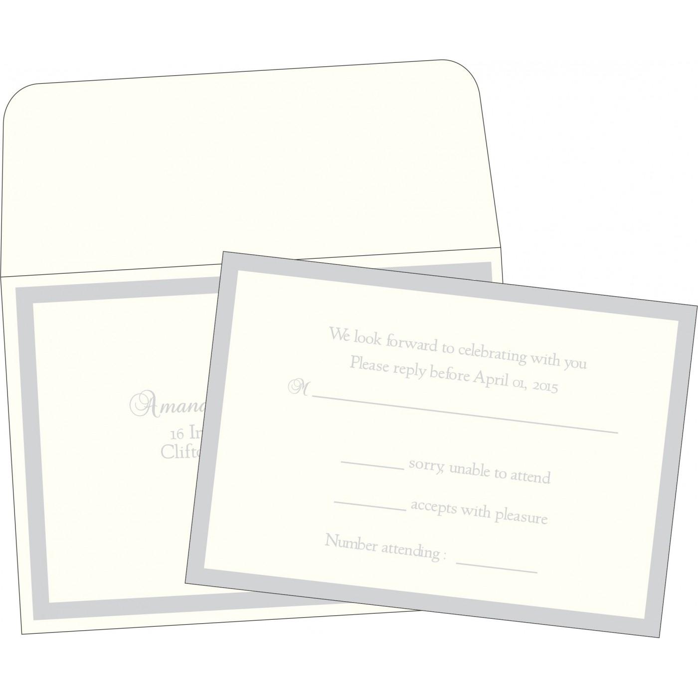 RSVP Cards : RSVP-2068 - 123WeddingCards