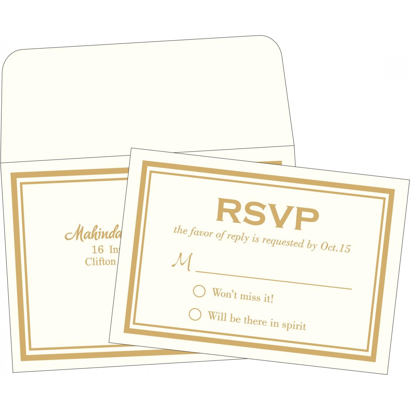 RSVP Cards : RSVP-2076 - 123WeddingCards