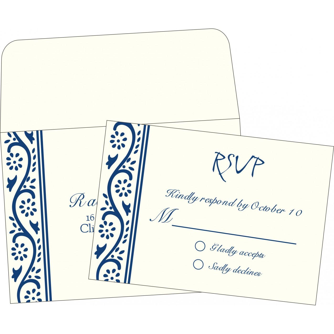 RSVP Cards : RSVP-2109 - 123WeddingCards