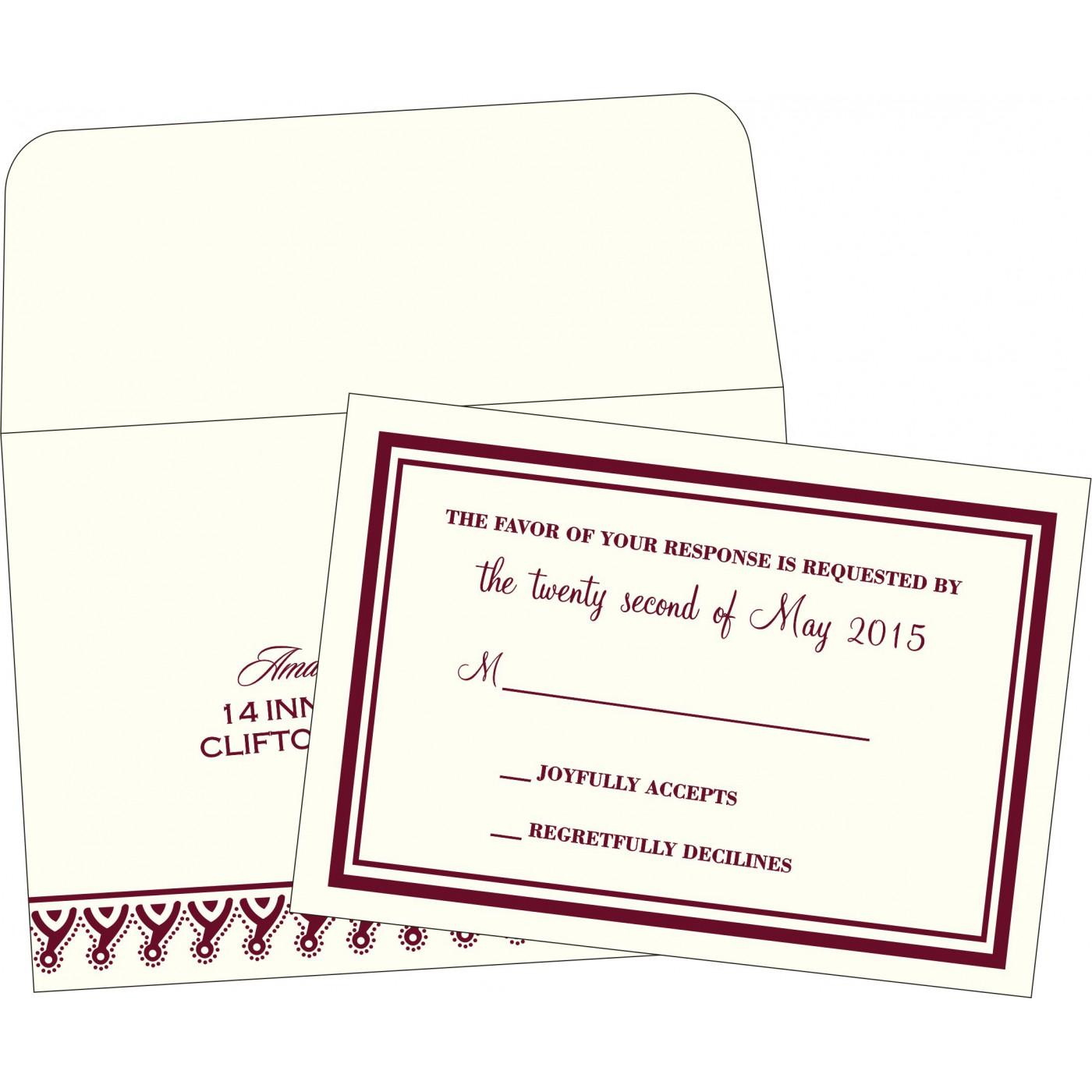 RSVP Cards : RSVP-2157 - 123WeddingCards