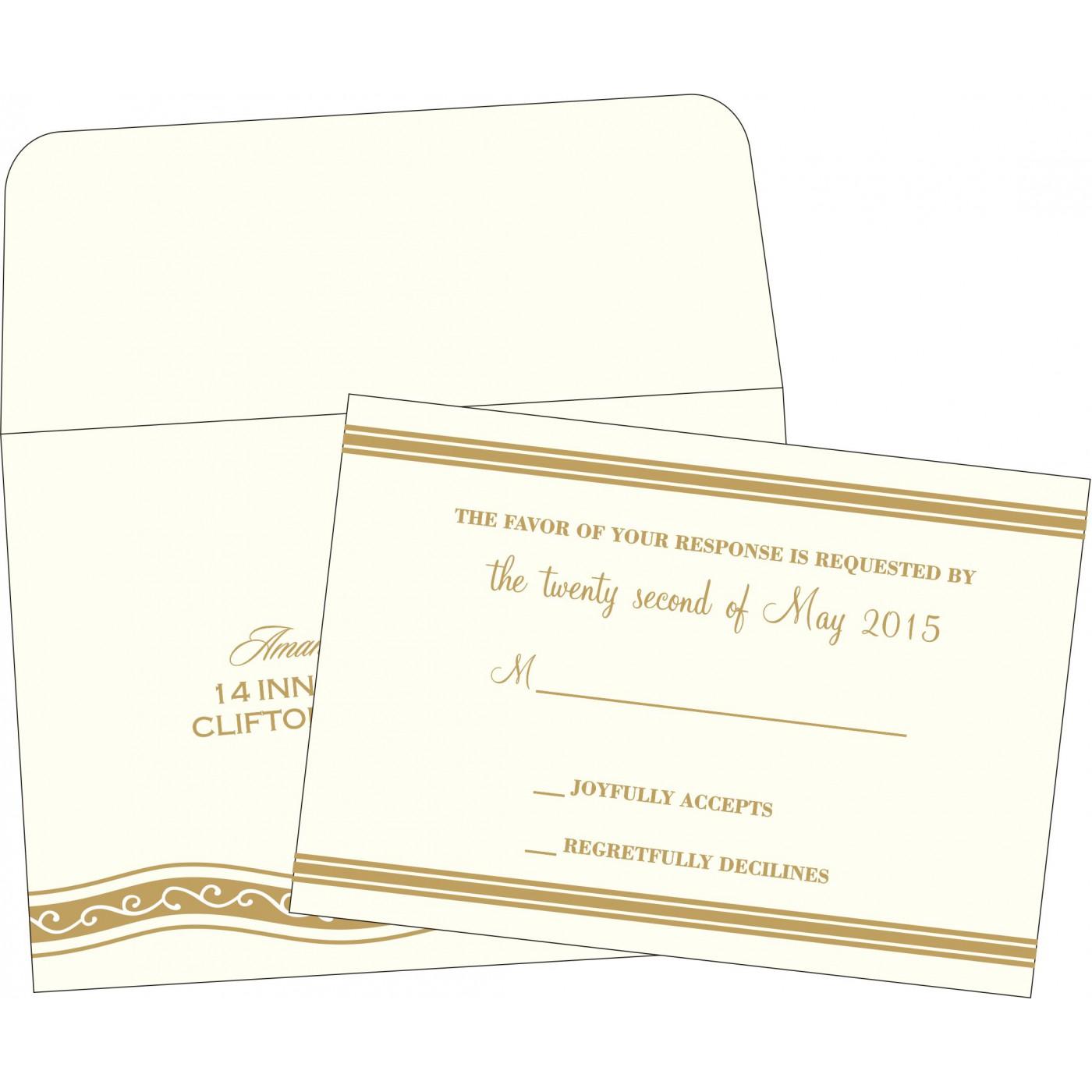 RSVP Cards : RSVP-2169 - 123WeddingCards