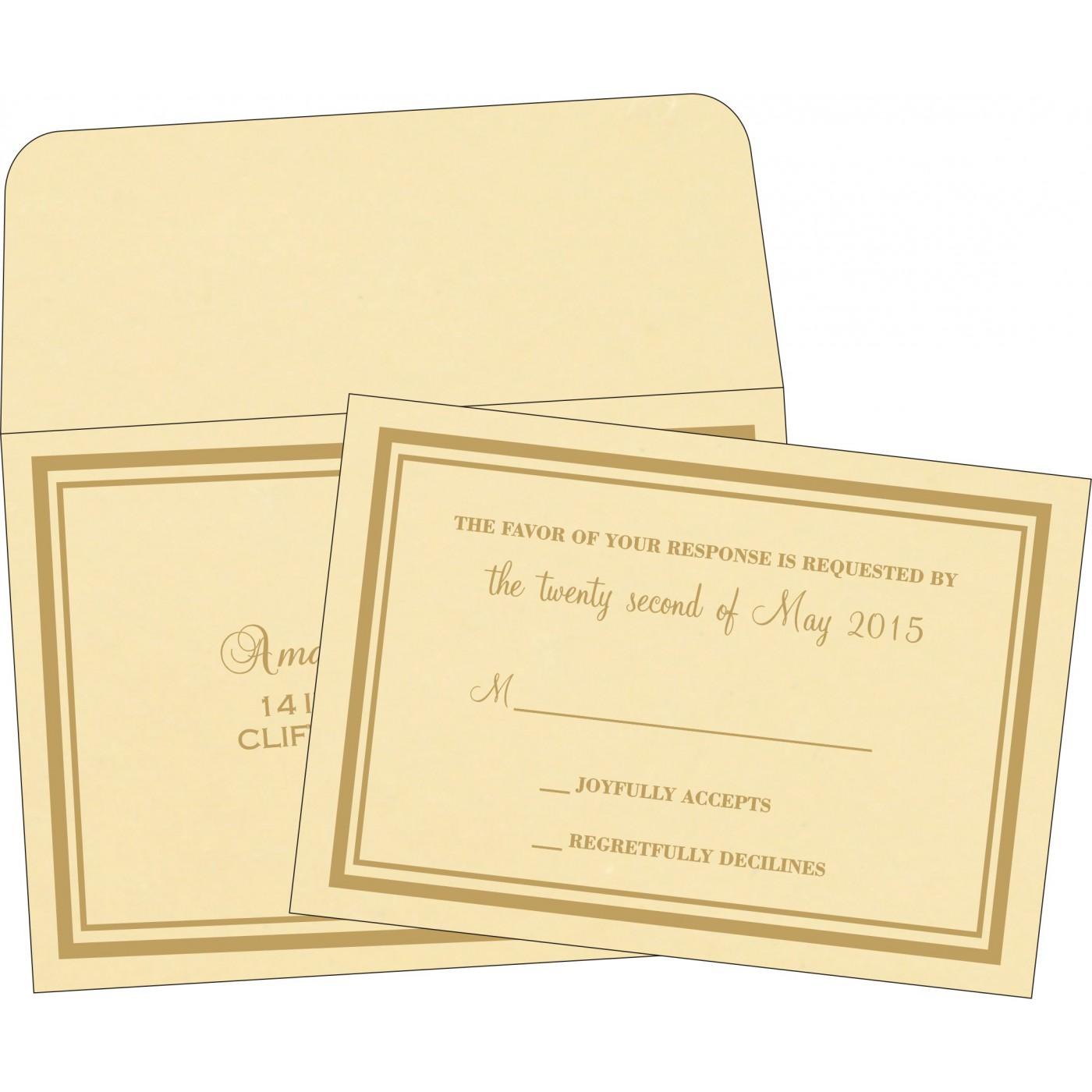 RSVP Cards : RSVP-2177 - 123WeddingCards