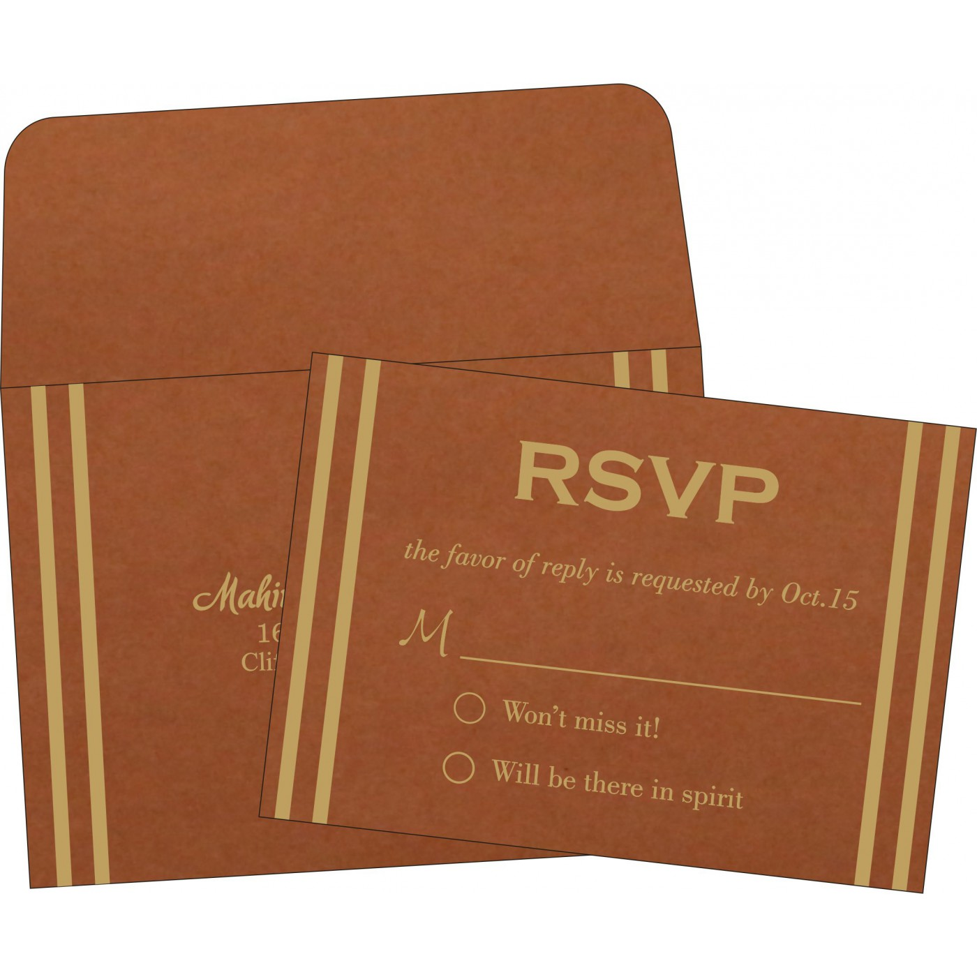 RSVP Cards : RSVP-2182 - 123WeddingCards