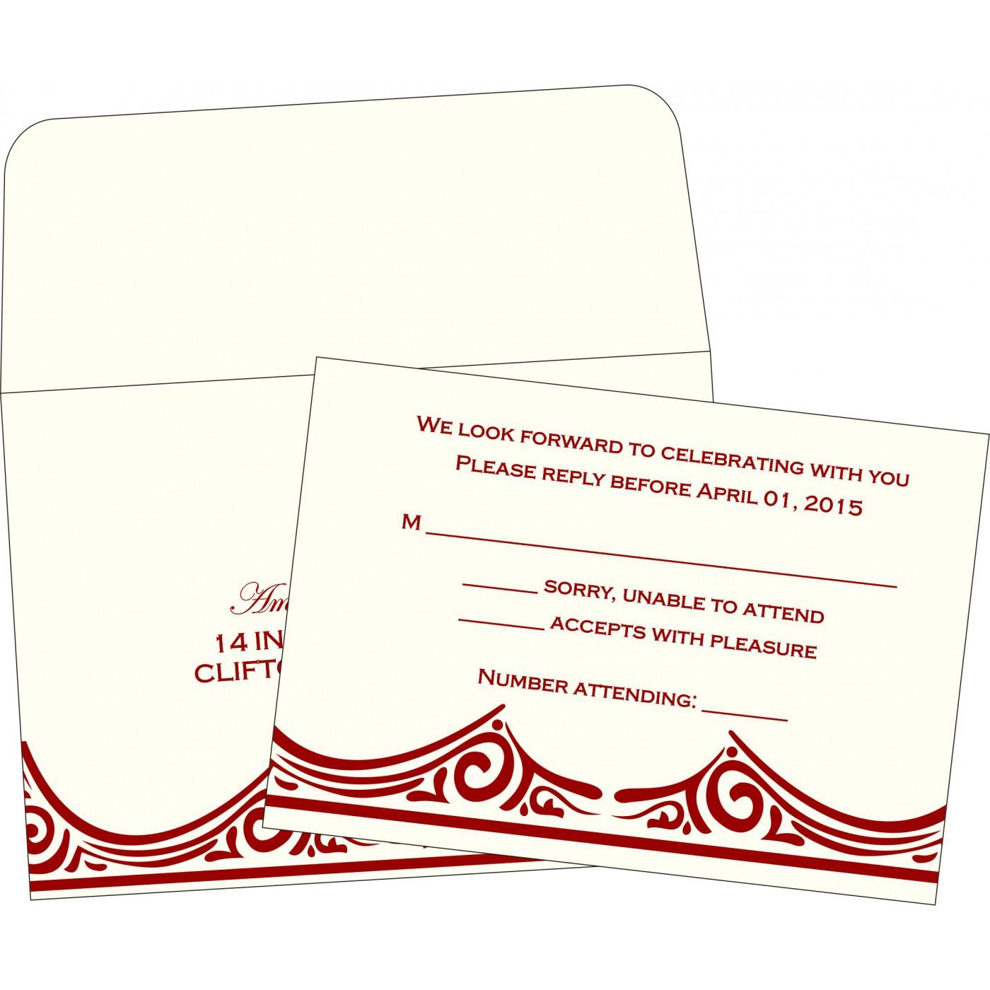RSVP Cards : RSVP-2207 - 123WeddingCards