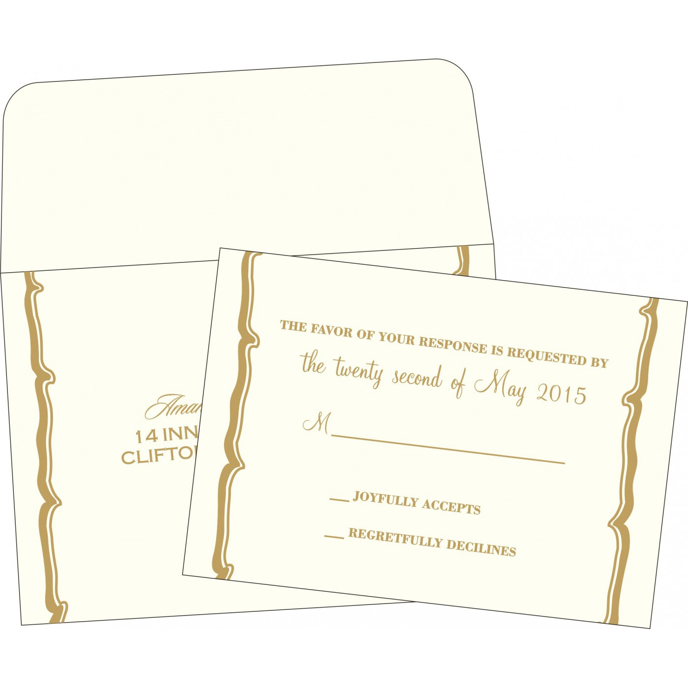 RSVP Cards : RSVP-2219 - 123WeddingCards