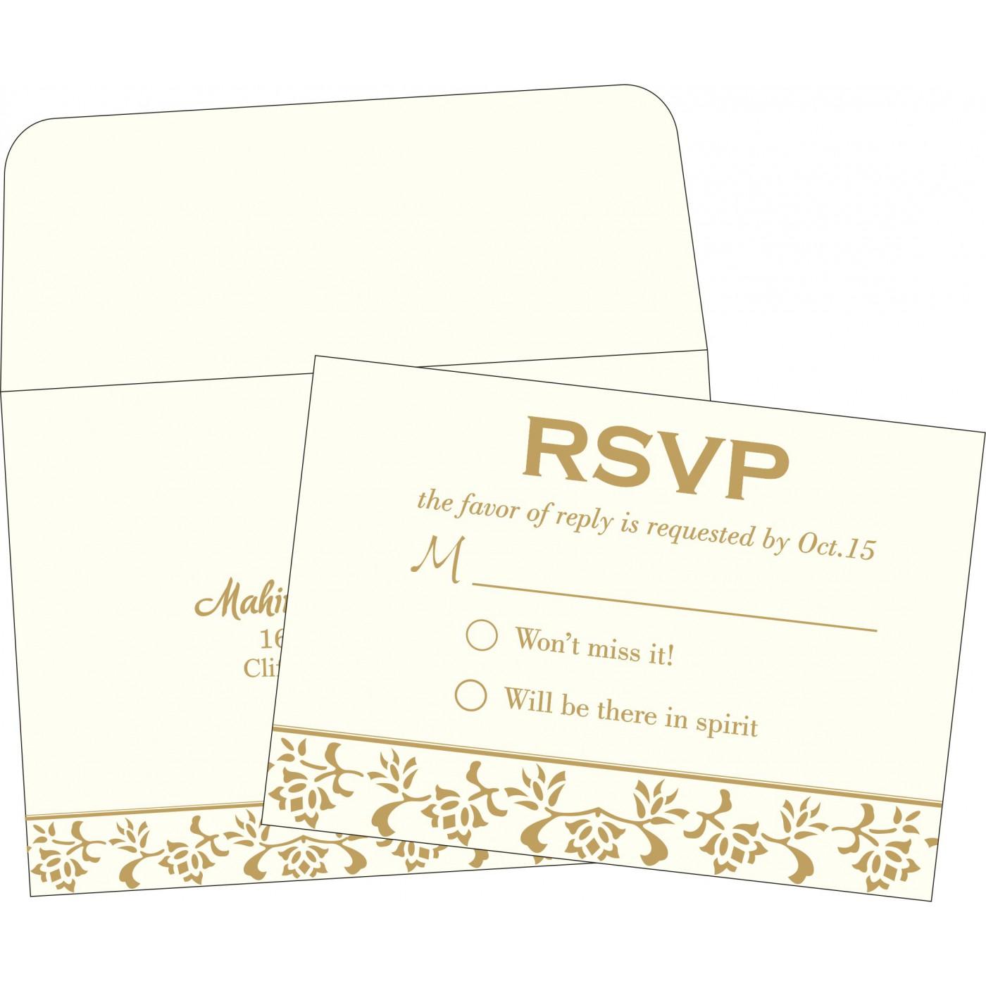RSVP Cards : RSVP-2238 - 123WeddingCards