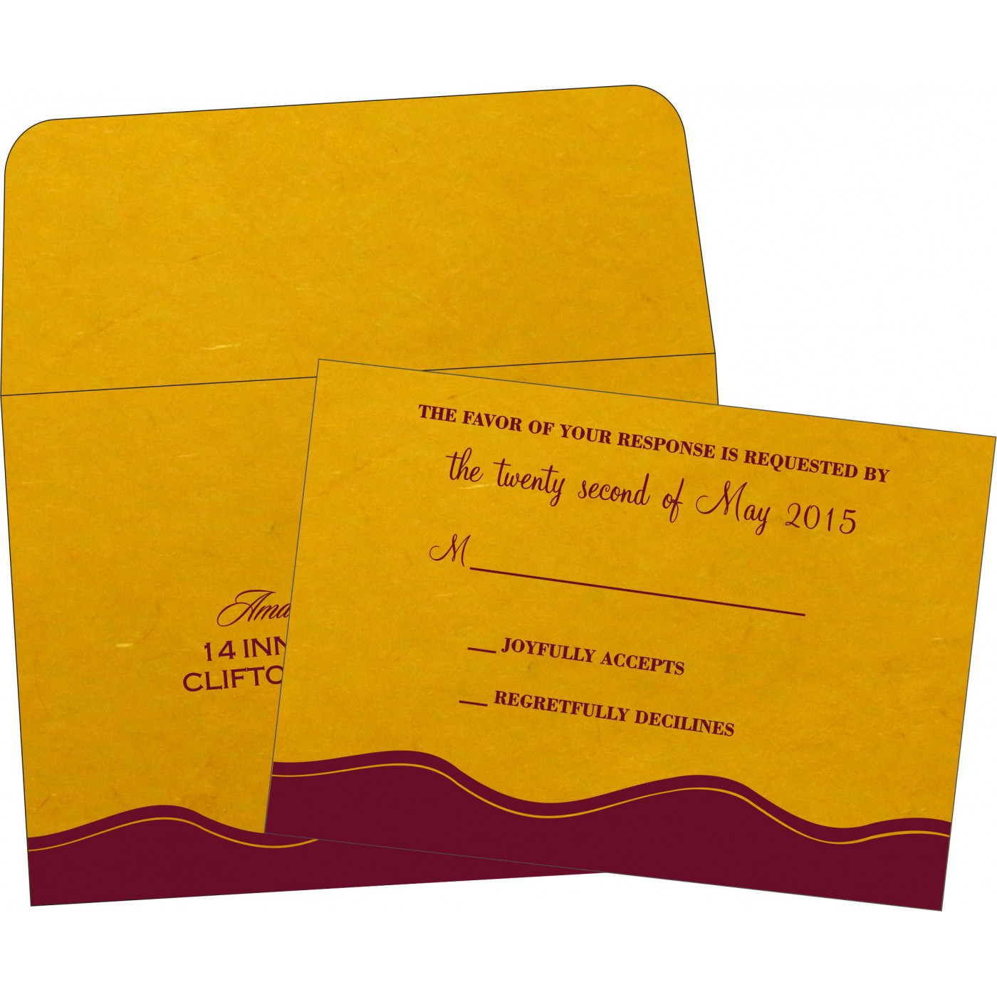 RSVP Cards : RSVP-2252 - 123WeddingCards