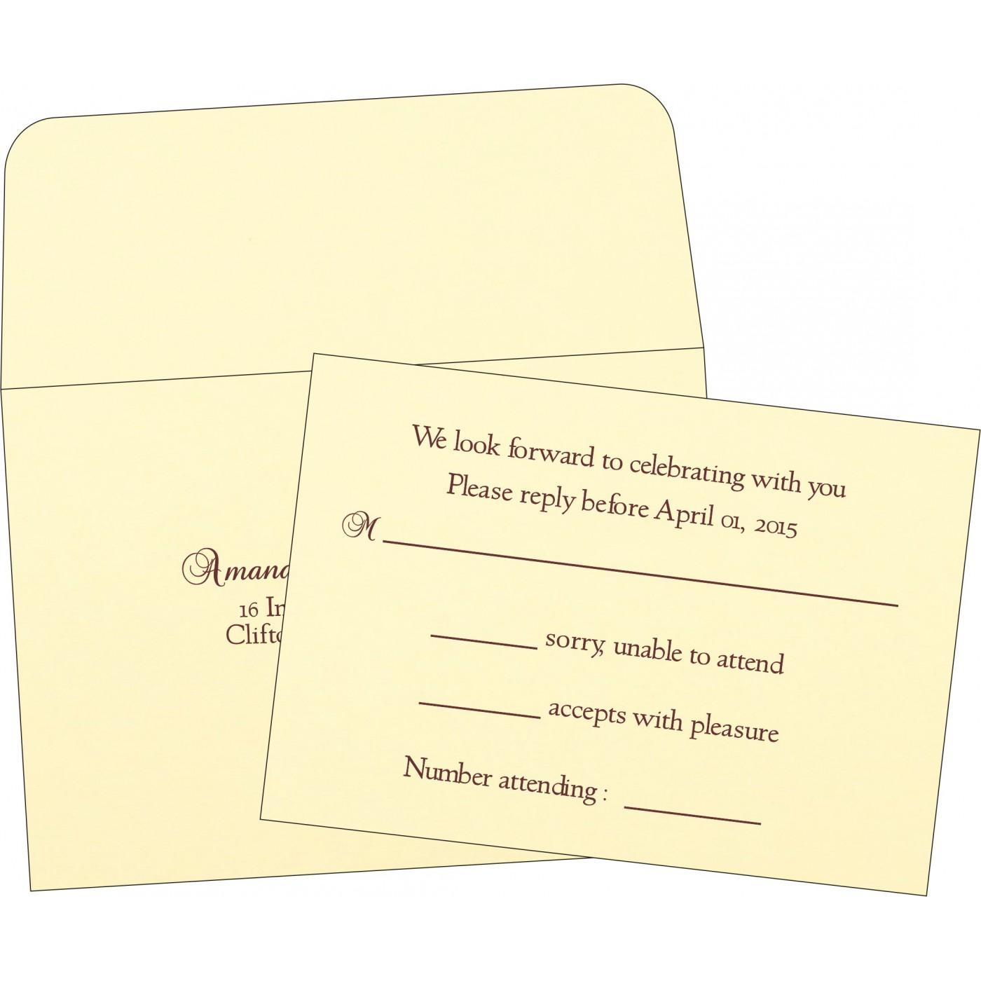 RSVP Cards : RSVP-2275 - 123WeddingCards