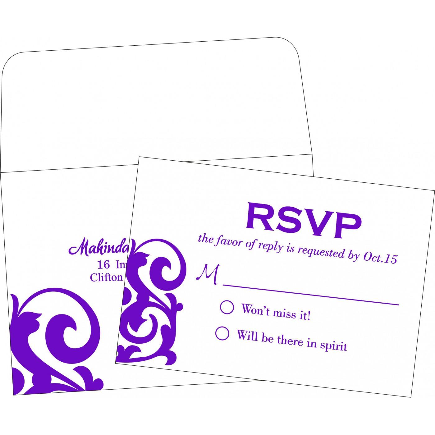 RSVP Cards : RSVP-2278 - 123WeddingCards