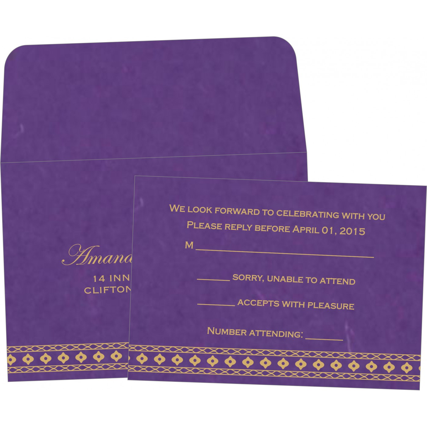 RSVP Cards : RSVP-5001K - 123WeddingCards