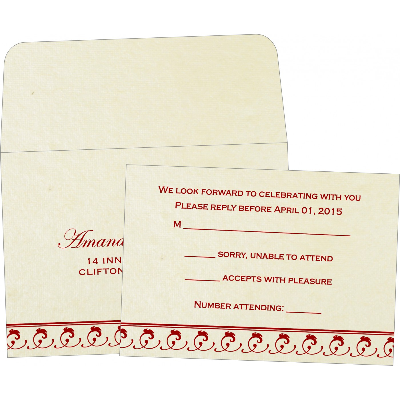 RSVP Cards : RSVP-5003B - 123WeddingCards