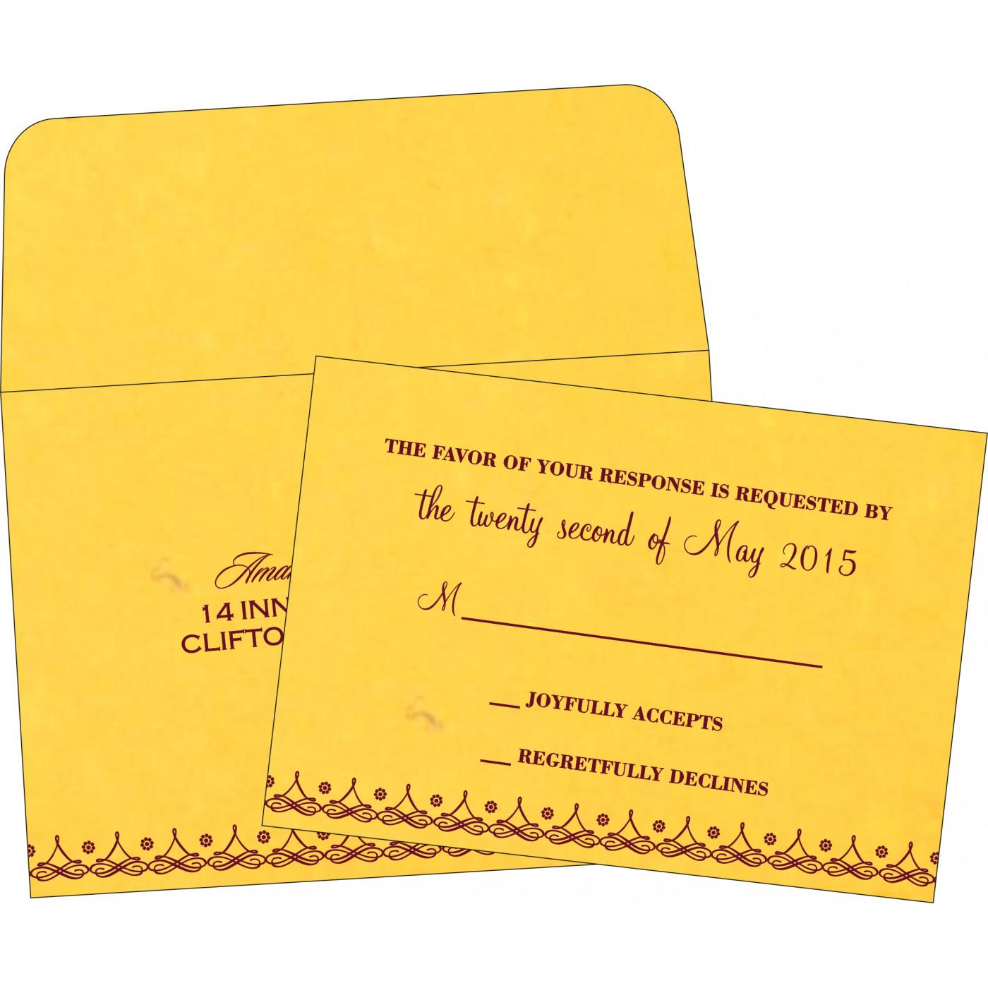 RSVP Cards : RSVP-5004G - 123WeddingCards