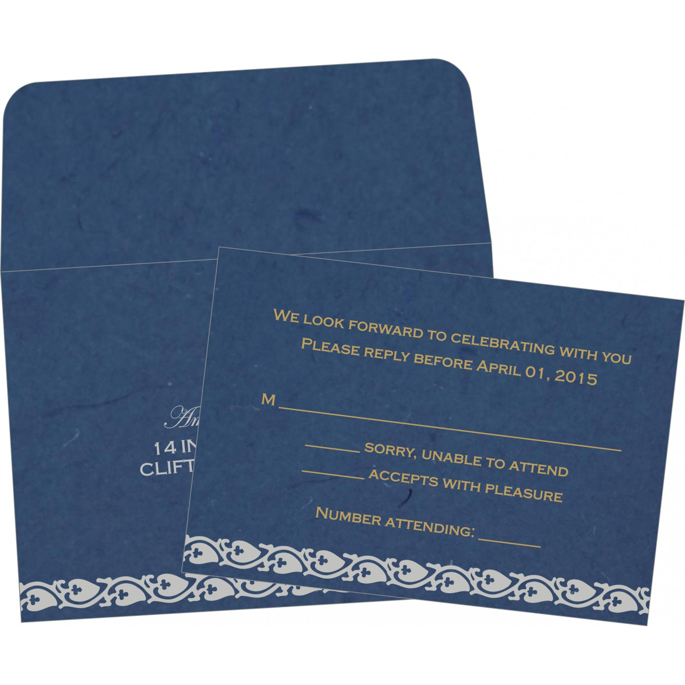 RSVP Cards : RSVP-5005A - 123WeddingCards