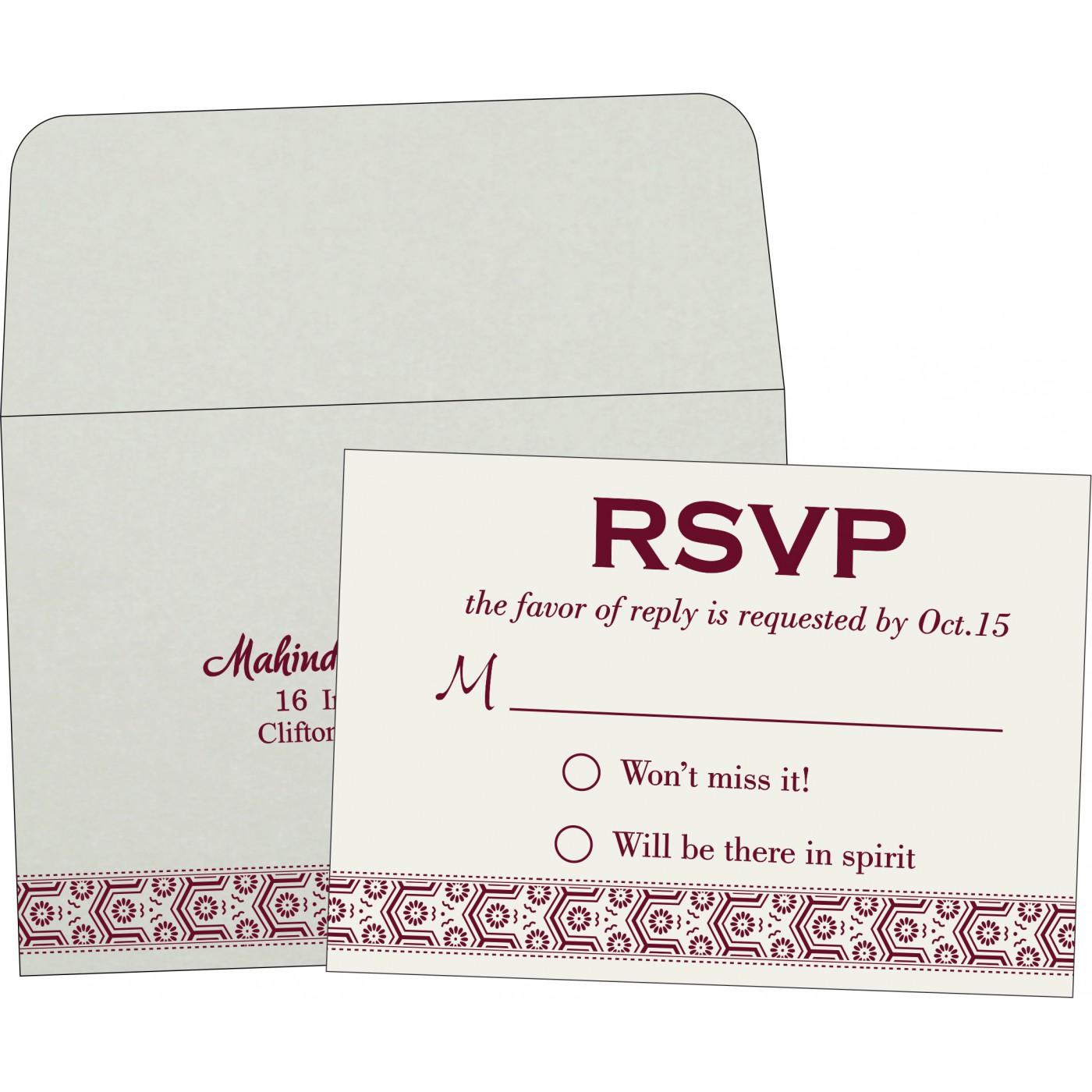 RSVP Cards : RSVP-5014J - 123WeddingCards