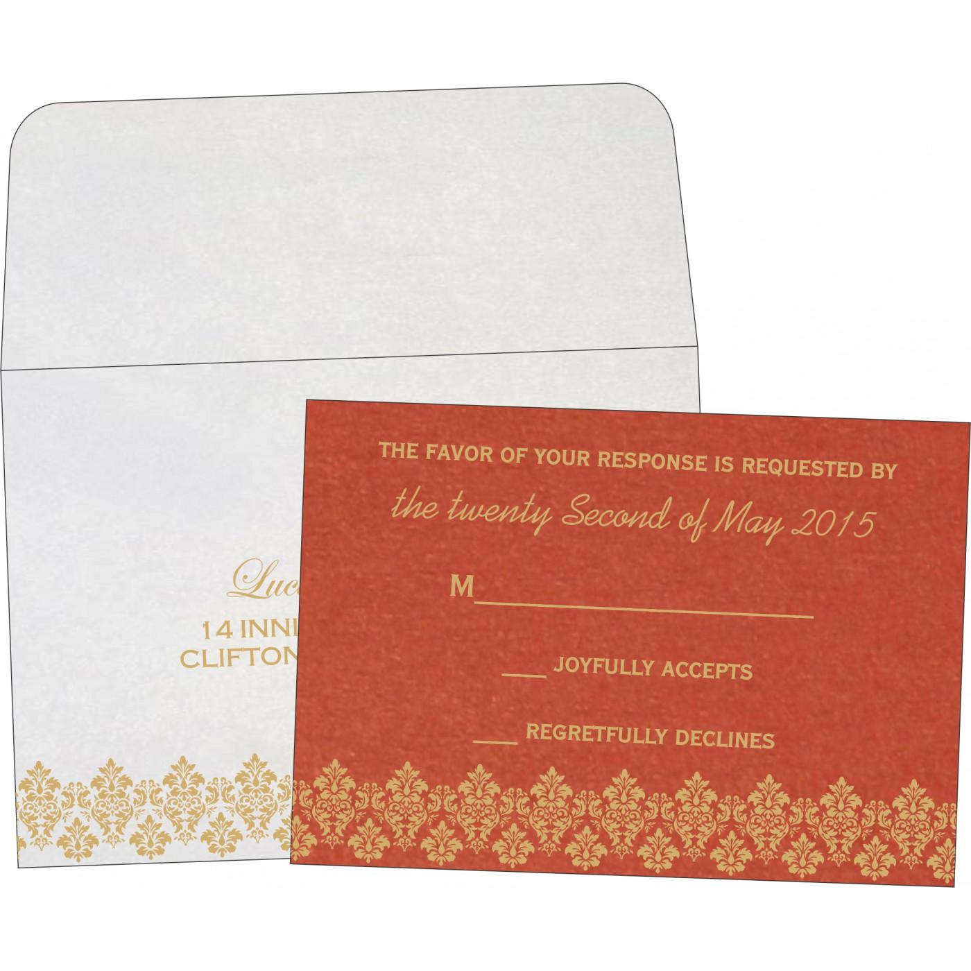 RSVP Cards : RSVP-5016A - 123WeddingCards