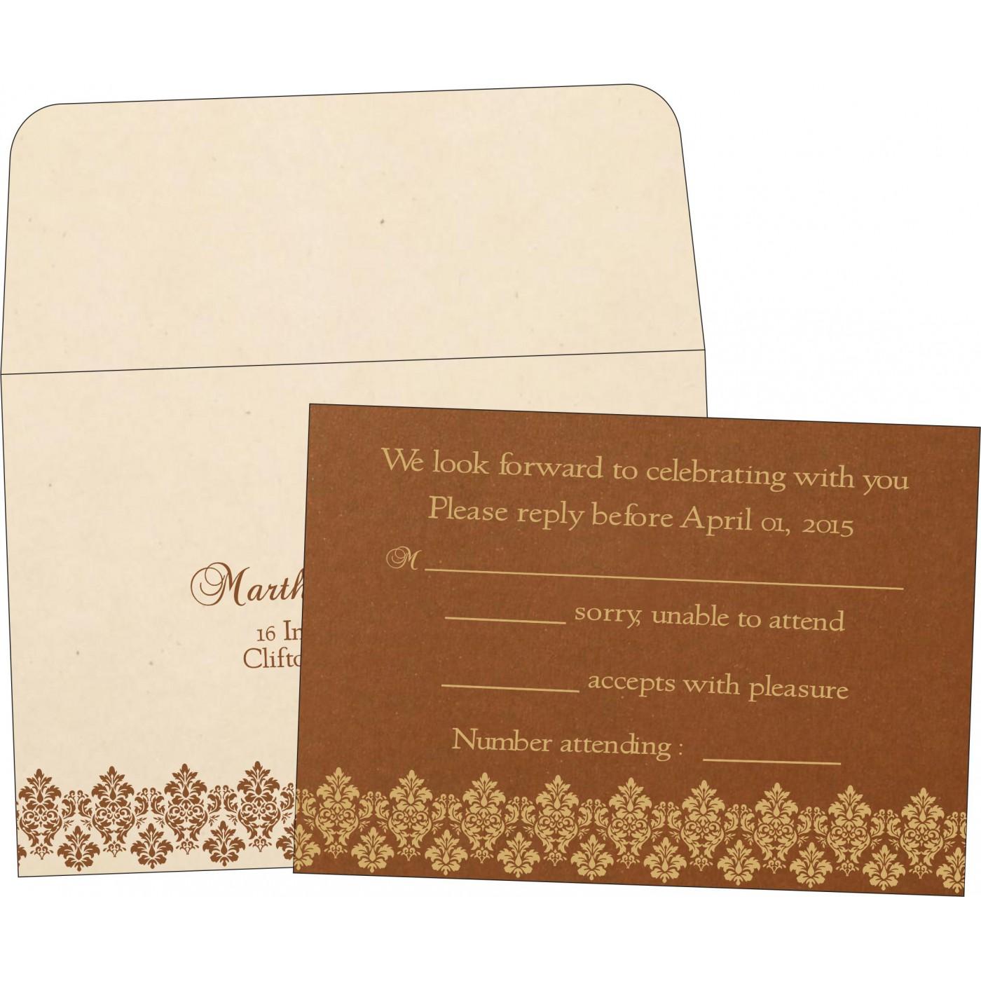 RSVP Cards : RSVP-5016C - 123WeddingCards