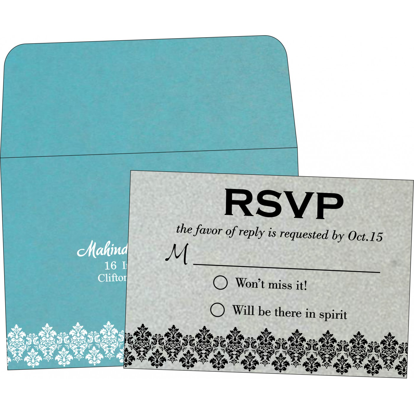RSVP Cards : RSVP-5016E - 123WeddingCards