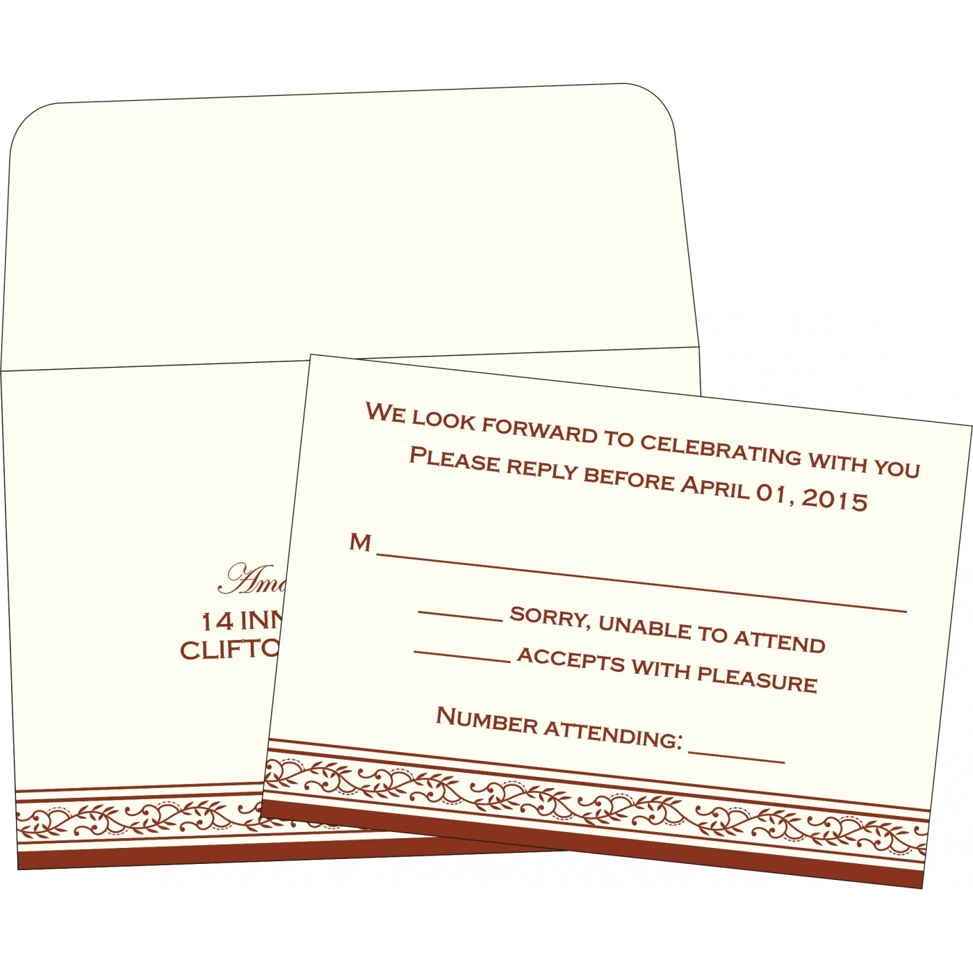RSVP Cards : RSVP-8202A - 123WeddingCards