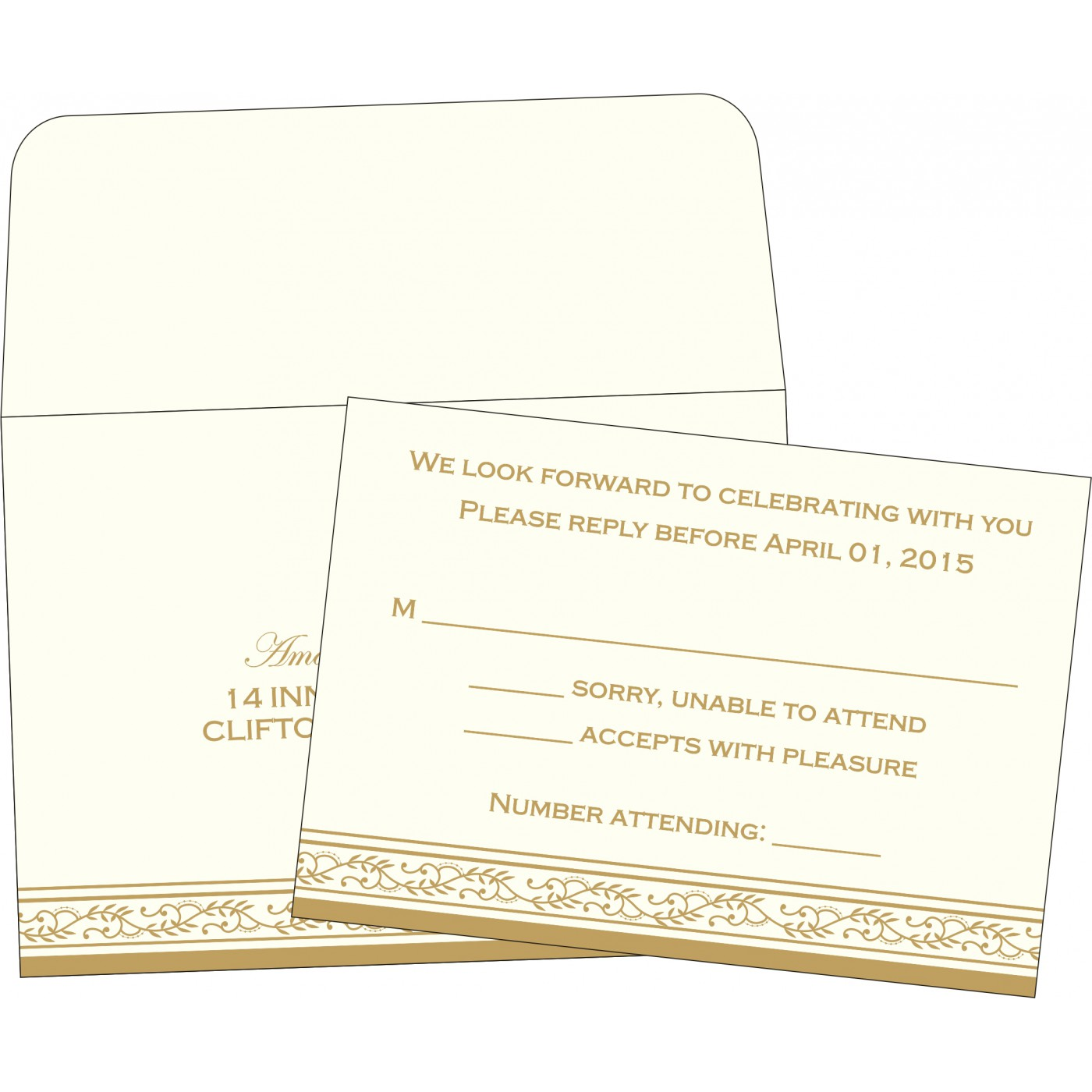 RSVP Cards : RSVP-8202D - 123WeddingCards