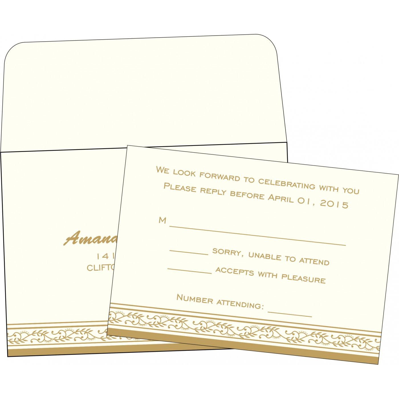 RSVP Cards : RSVP-8202E - 123WeddingCards