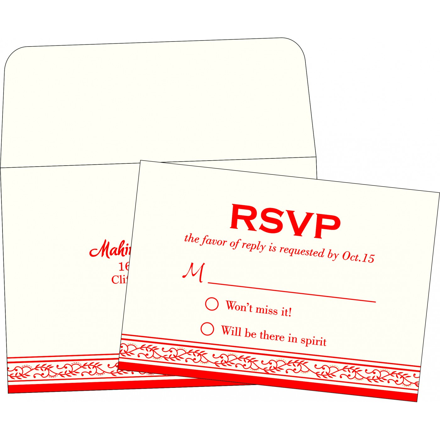 RSVP Cards : RSVP-8202H - 123WeddingCards