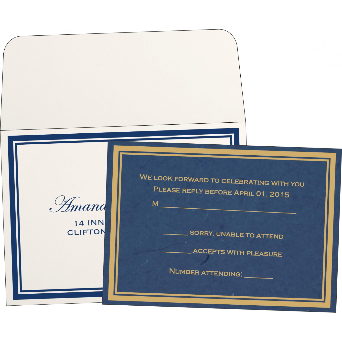 RSVP Cards : RSVP-8203B - 123WeddingCards