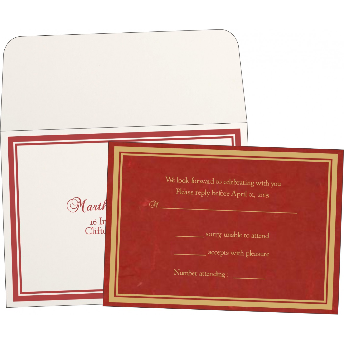 RSVP Cards : RSVP-8203C - 123WeddingCards