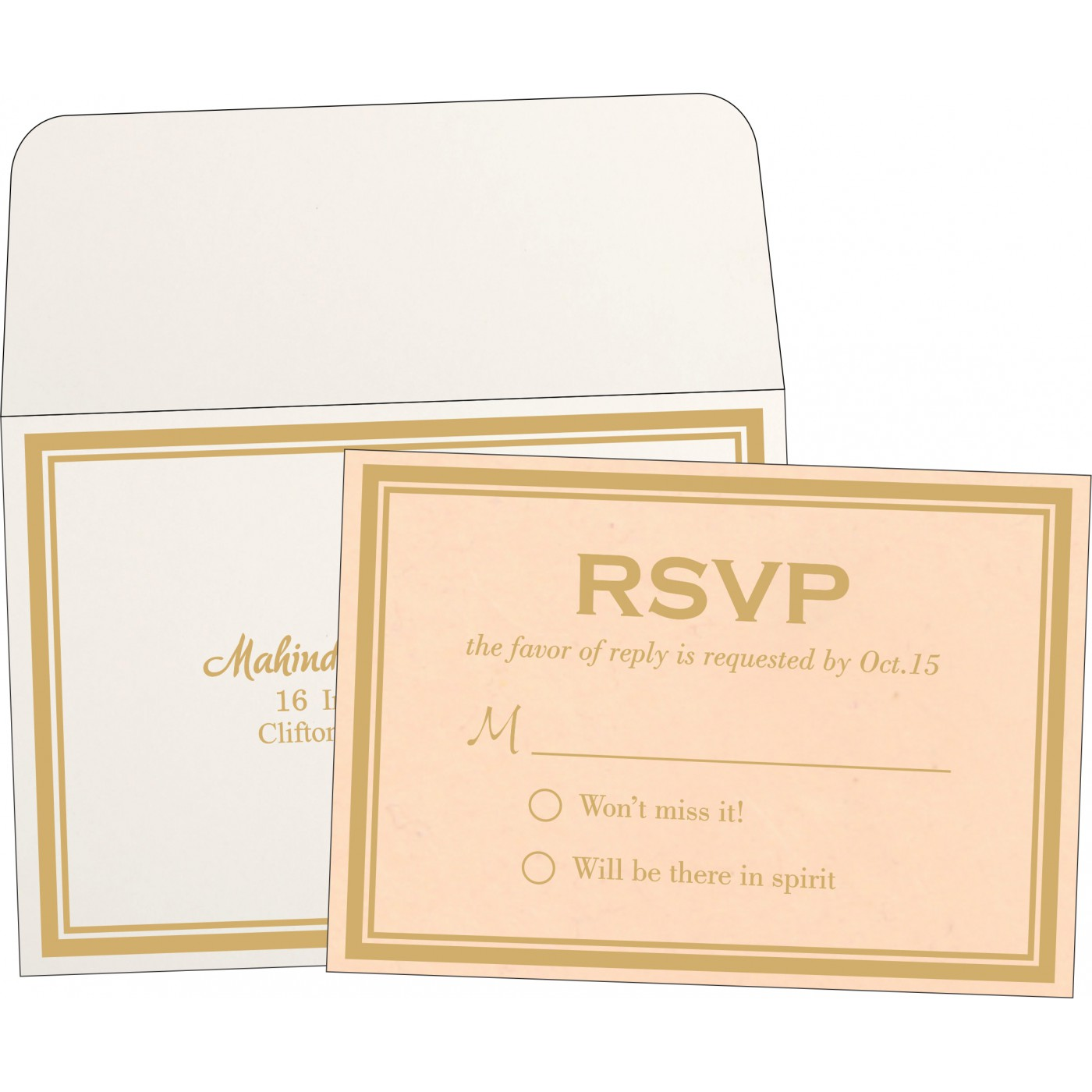 RSVP Cards : RSVP-8203E - 123WeddingCards
