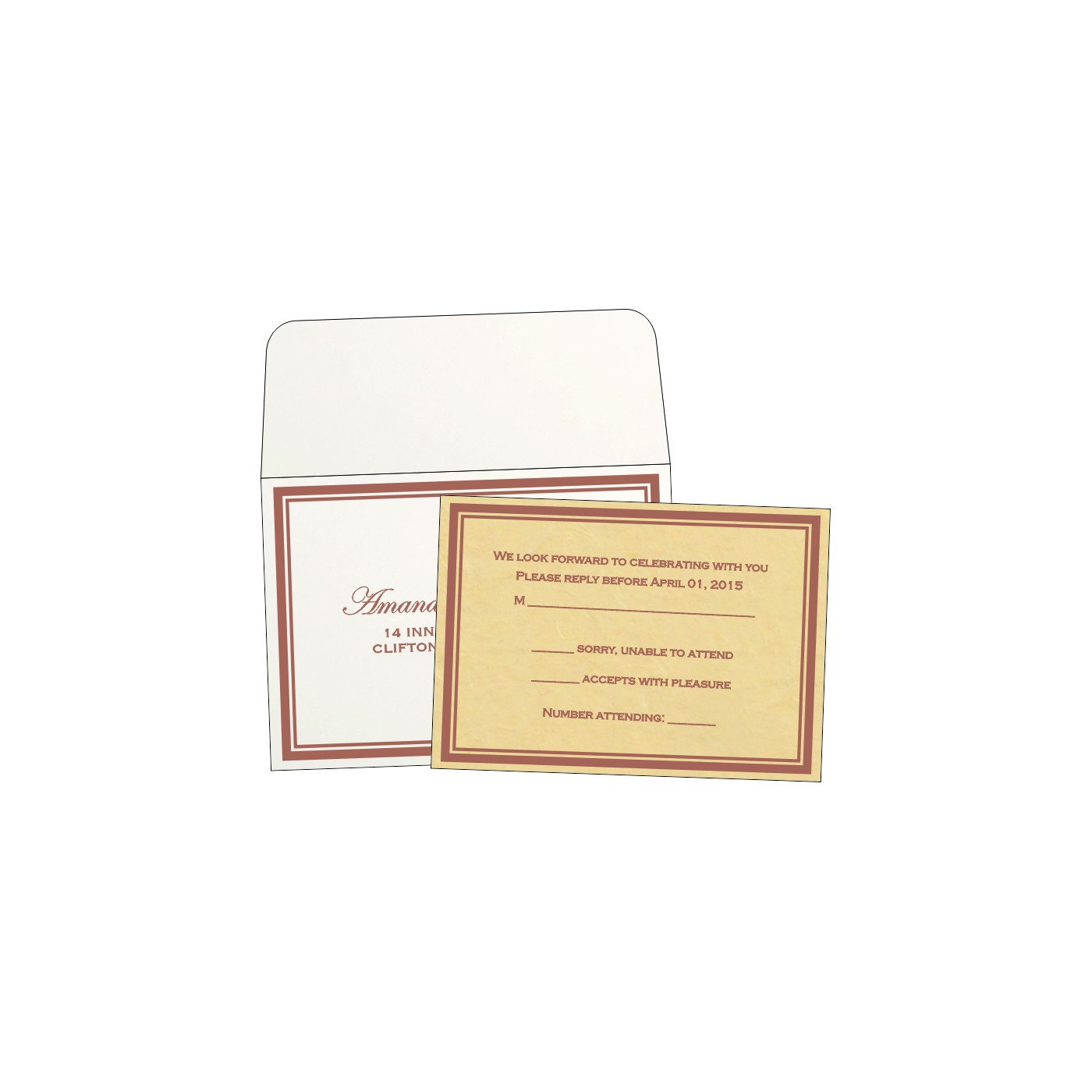 RSVP Cards : RSVP-8203G - 123WeddingCards