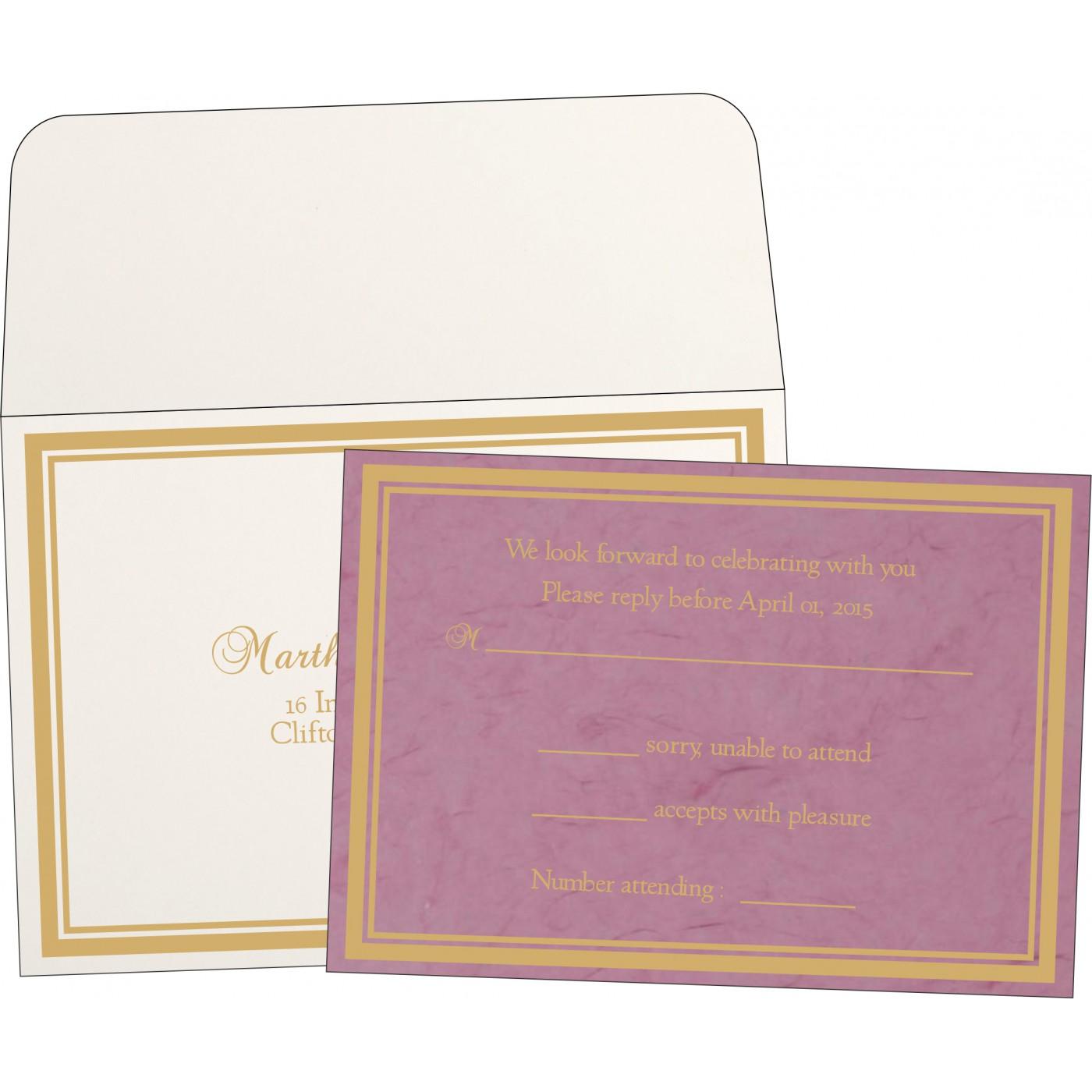 RSVP Cards : RSVP-8203H - 123WeddingCards