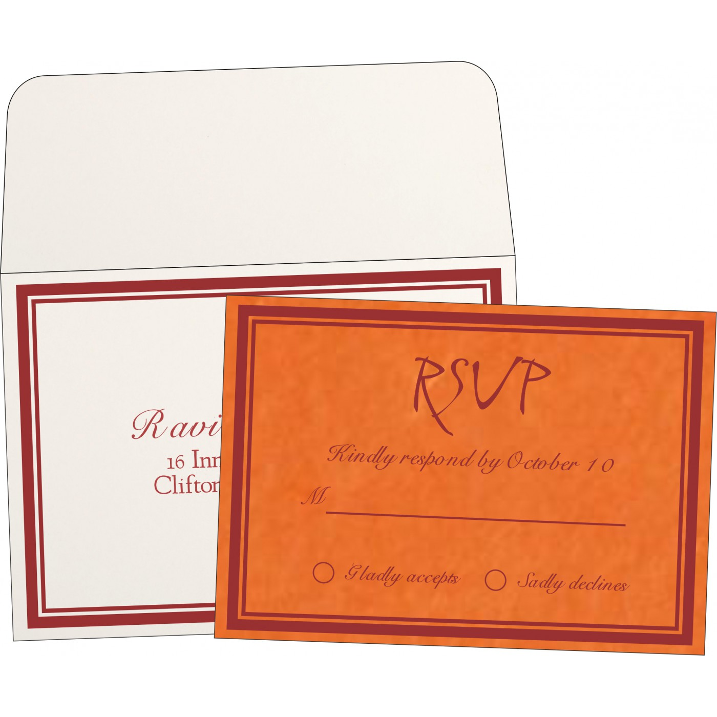 RSVP Cards : RSVP-8203J - 123WeddingCards
