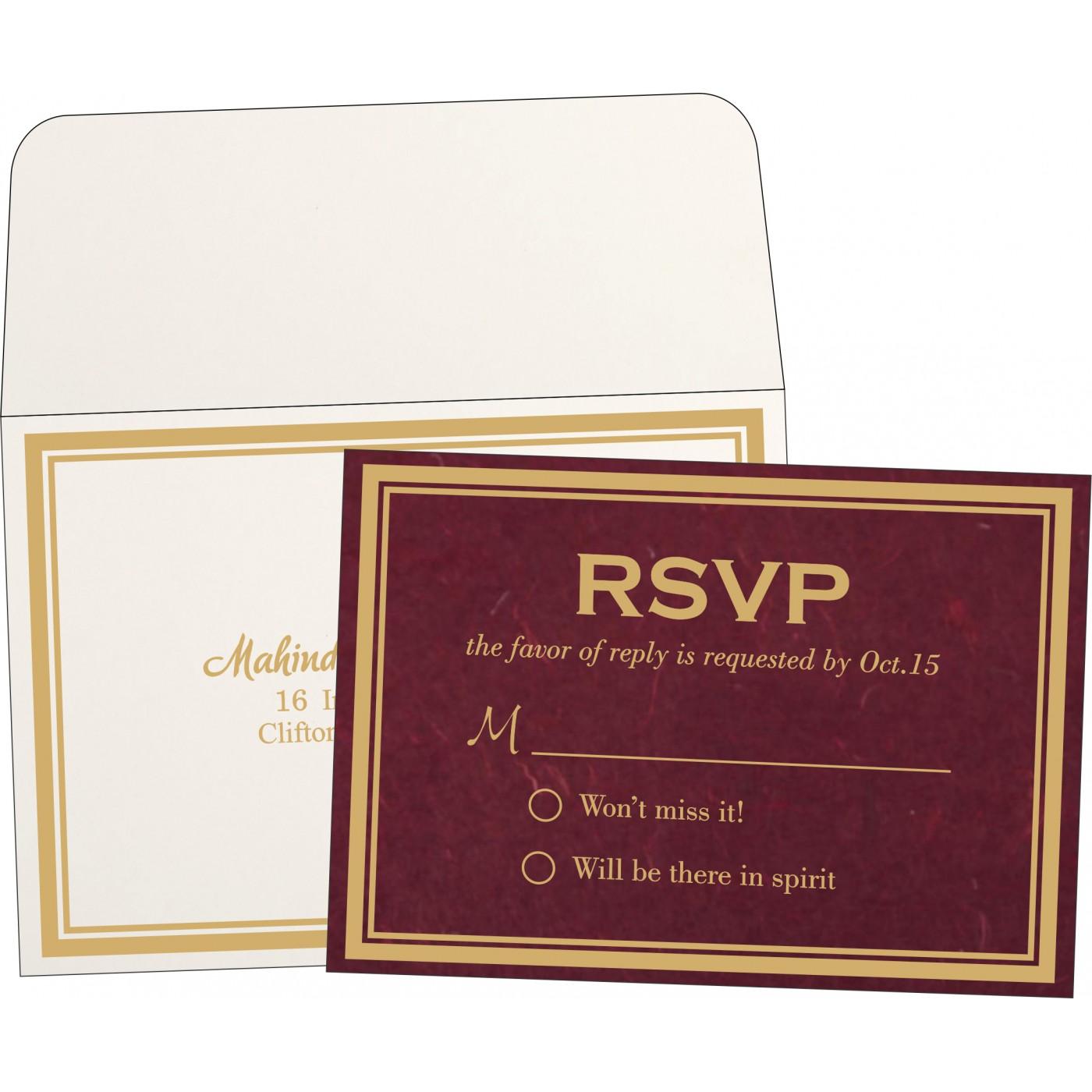 RSVP Cards : RSVP-8203K - 123WeddingCards