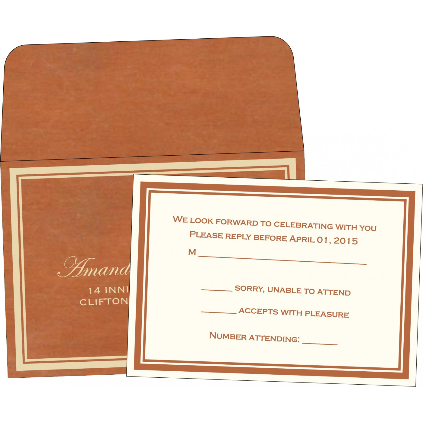 RSVP Cards : RSVP-8204A - 123WeddingCards