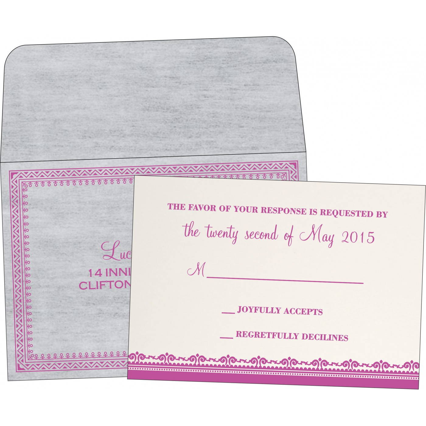 RSVP Cards : RSVP-8205A - 123WeddingCards