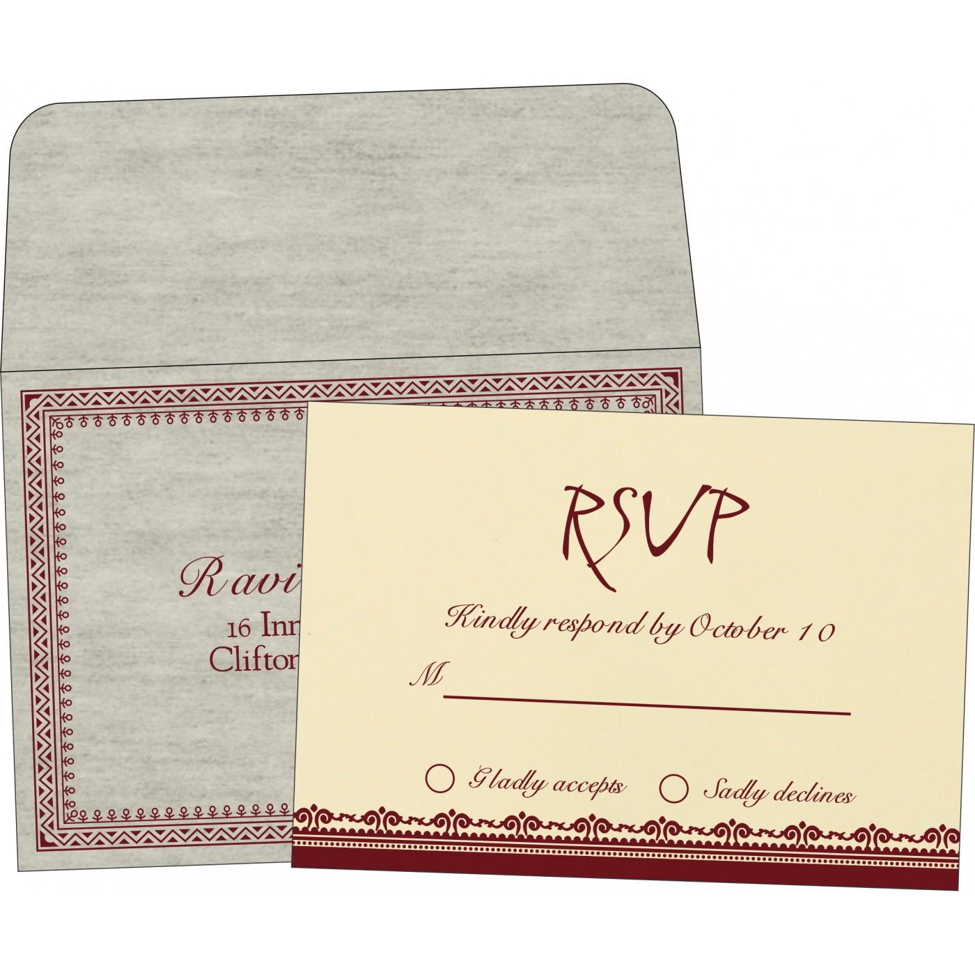 RSVP Cards : RSVP-8205E - 123WeddingCards