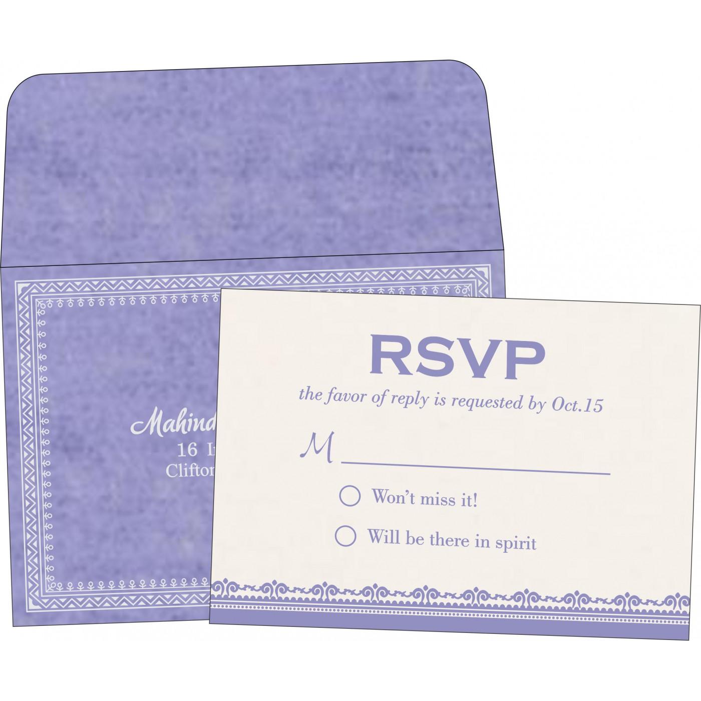 RSVP Cards : RSVP-8205F - 123WeddingCards