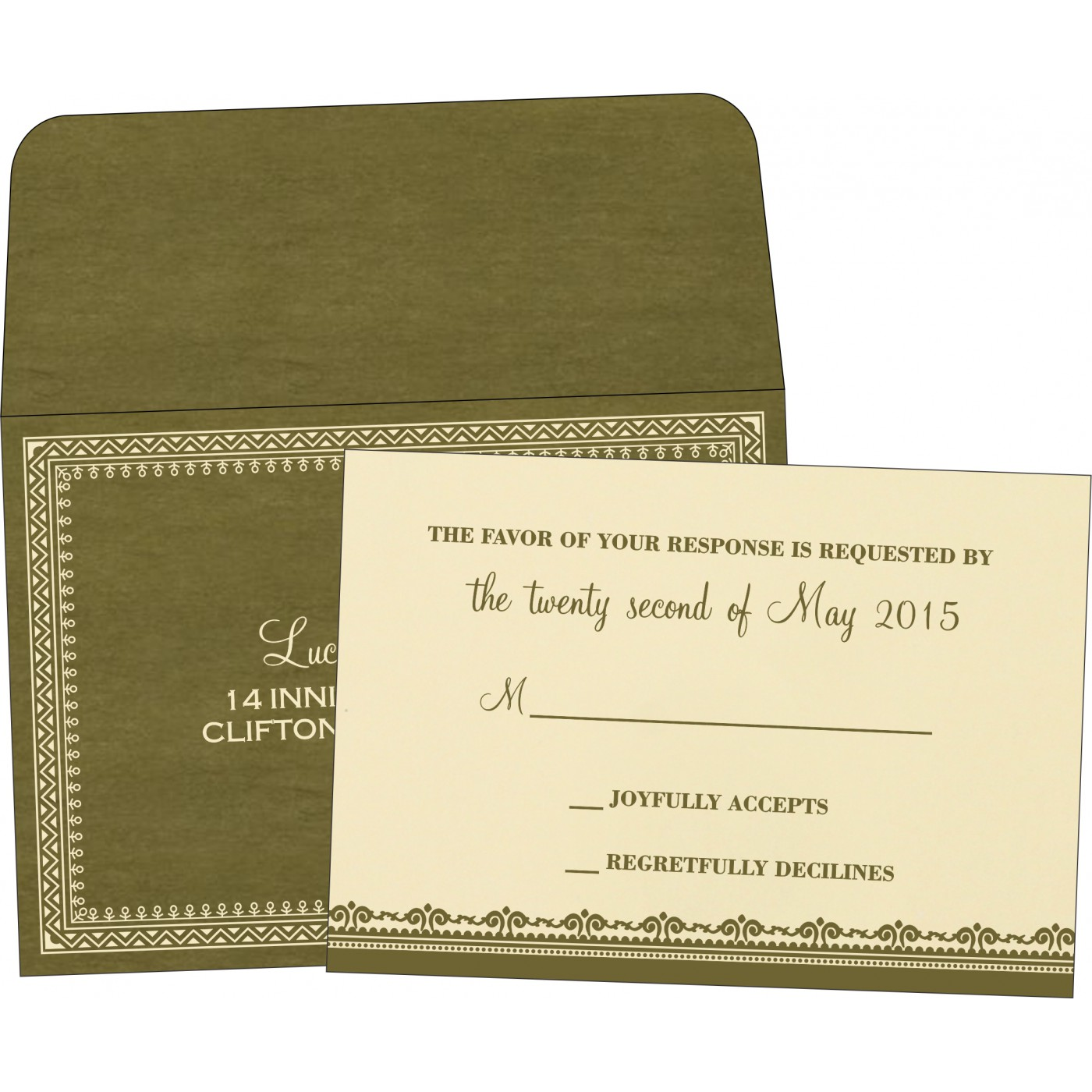 RSVP Cards : RSVP-8205G - 123WeddingCards