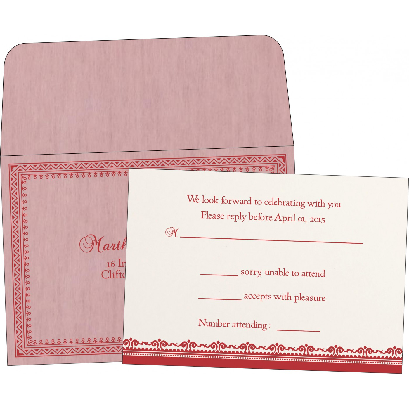 RSVP Cards : RSVP-8205J - 123WeddingCards