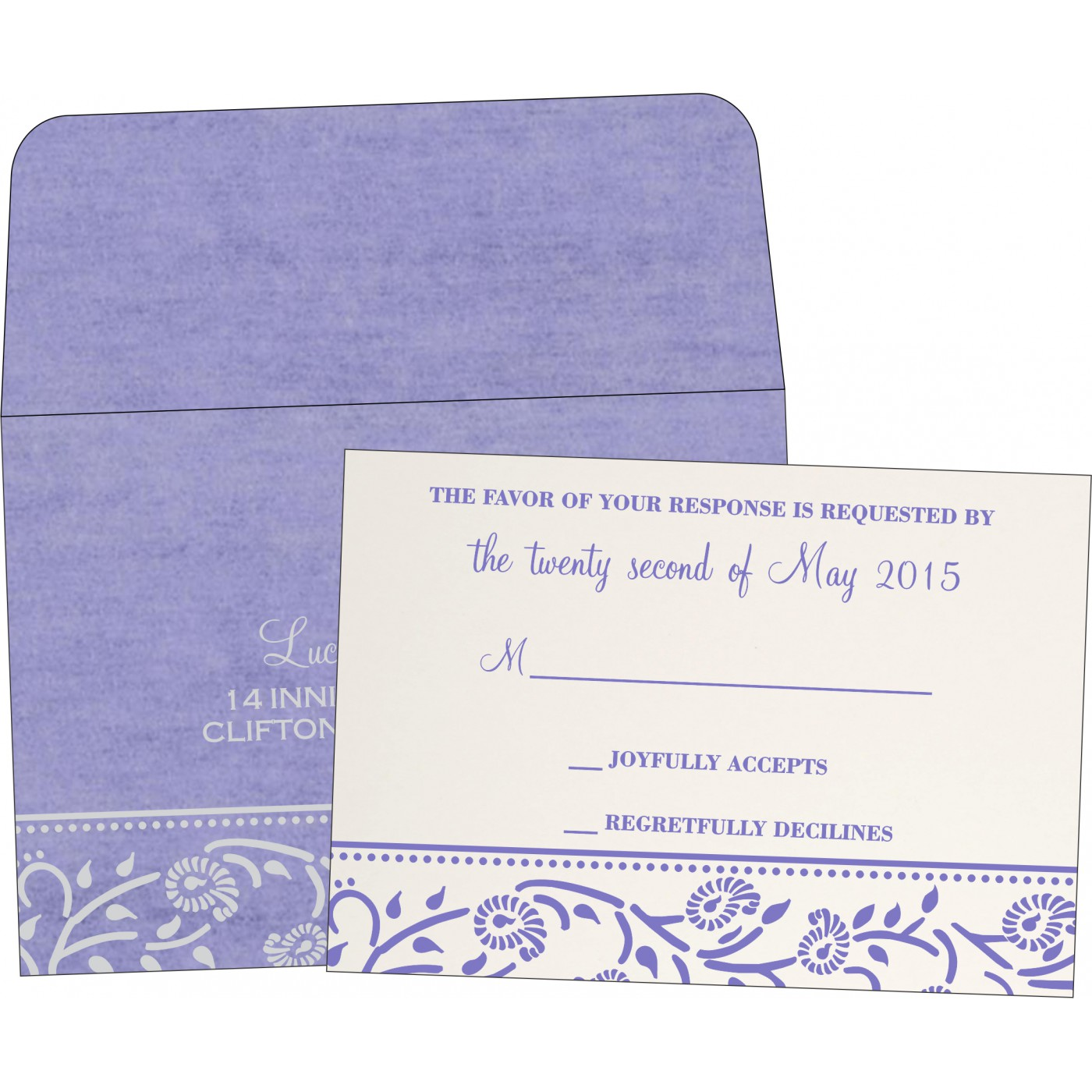 RSVP Cards : RSVP-8206A - 123WeddingCards