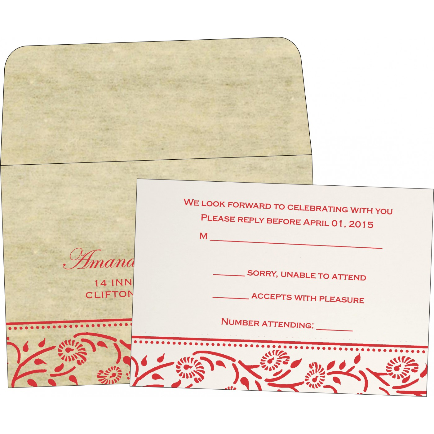 RSVP Cards : RSVP-8206C - 123WeddingCards