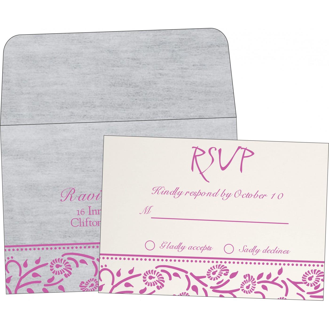 RSVP Cards : RSVP-8206F - 123WeddingCards