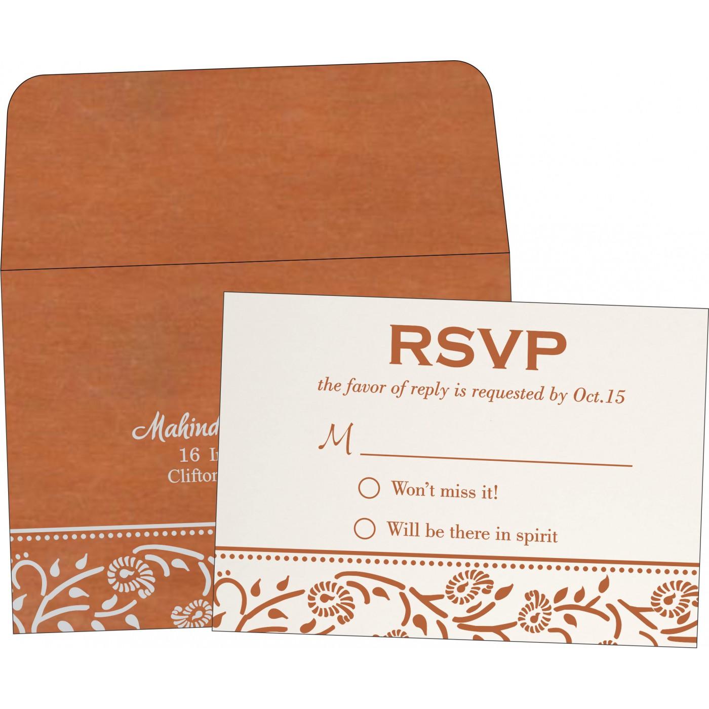 RSVP Cards : RSVP-8206G - 123WeddingCards
